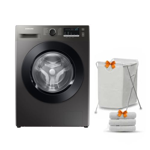 Samsung Washing Machine 9KG 1400RPM Digital Inverter Eco Bubble With Steam Inox WW90TA046AX1AS