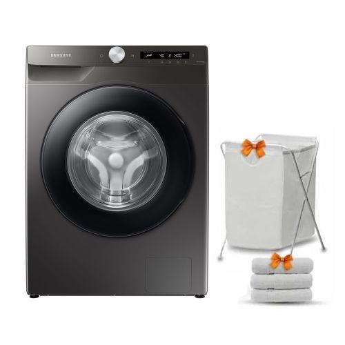 Samsung Washing Machine 8KG 1400RPM Digital Inverter Eco Bubble Wi-Fi With Steam Inox WW80T534DAN1AS