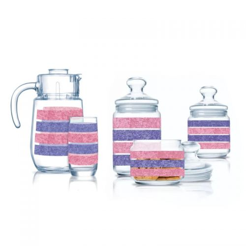 Luminarc Drinking Set 7 Pieces and Sugar Bowl Set 3 Pieces Q3504
