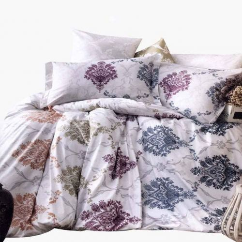 Family Bed Flat Bed Sheet Cotton Touch 4 Pieces Multi Color CT_138