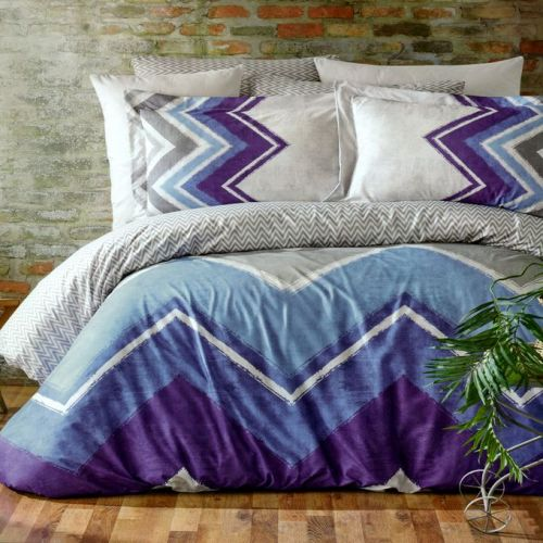 Family Bed Flat Bed Sheet Cotton Touch 4 Pieces Multi Color CT_162