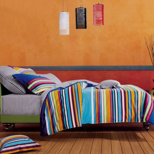 Family Bed Cover Set Cotton Touch 3 Pieces Multi Color CTC_133