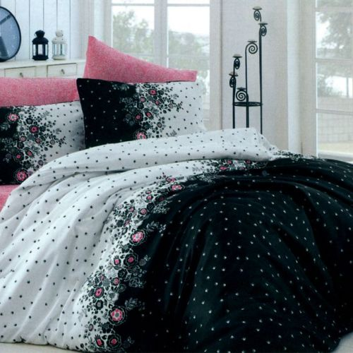 Family Bed Cover Set Cotton Touch 3 Pieces Multi Color CTC_129