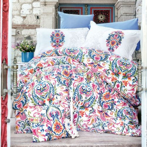 Family Bed Cover Set Cotton Touch 3 Pieces Multi Color CTC_145