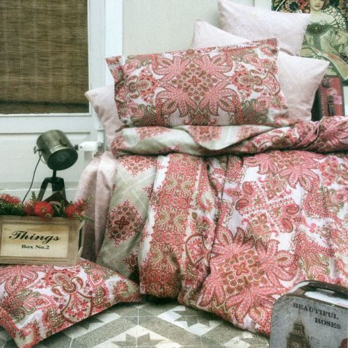 Family Bed Cover Set Cotton Touch 3 Pieces Multi Color CTC_155