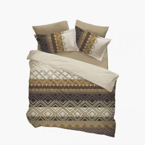Family Bed Cover Set Cotton Touch 3 Pieces Multi Color CTC_112
