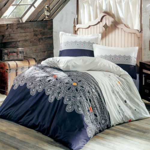 Family Bed Cover Set Cotton Touch 3 Pieces Multi Color CTC_114