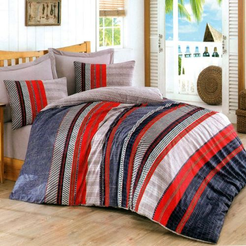 Family Bed Cover Set Cotton Touch 3 Pieces Multi Color CTC_121