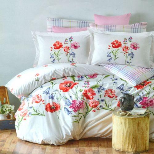 Family Bed Cover Set Cotton 100% 3 Pieces Multi Color CC_1014