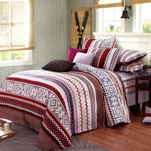 Family Bed Cover Set Cotton 100% 3 Pieces Multi Color CC_4013