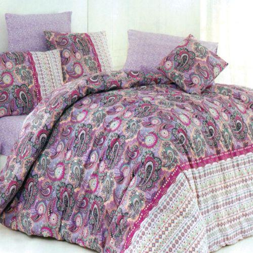 Family Bed Cover Set Cotton 100% 3 Pieces Multi Color CC_1010