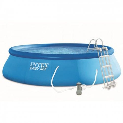 Intex Swimming Pool Inflatable With Ladder 457*107cm Blue IX-26166