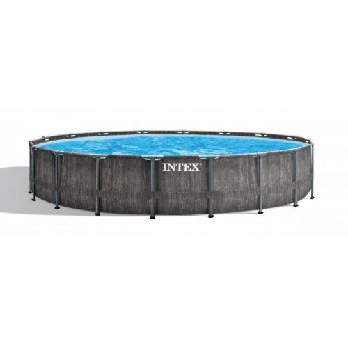 Intex Greywood Prism Frame Swimming Pool 549*122 cm Round with Filter Pump IX-26744
