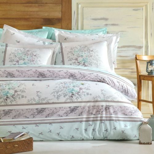 Family Bed Flat Bed Sheet Cotton 100% 4 Pieces Multi Color C_1017