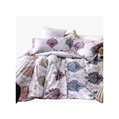 Family Bed Cover Set Cotton Touch 2 Pieces Multi Color CTC_138A
