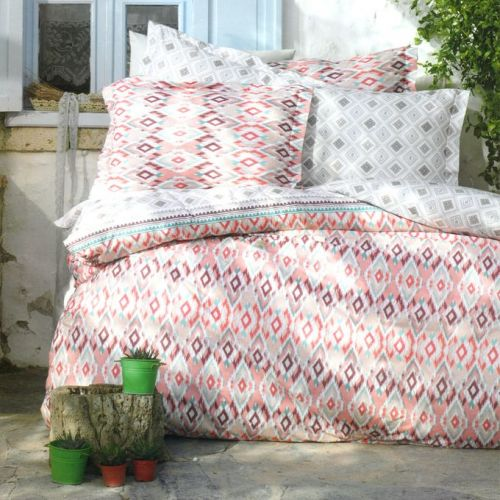 Family Bed Comforter Set Cotton Touch 2 Pieces Multi Color NN_165