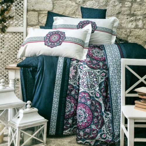 Family Bed Comforter Set Cotton Touch 2 Pieces Multi Color NN_158