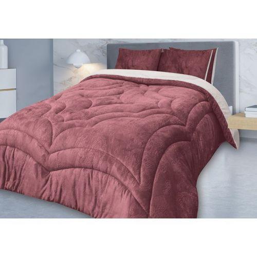 Family Bed Comforter Set Bed 3 Pieces Plush Kashmir CL_2205