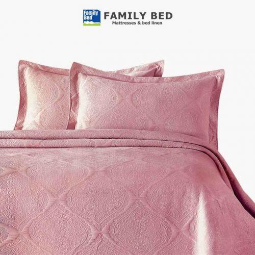 Family Bed Jacquard Cover Set 3 Pieces Rose CSTR_406