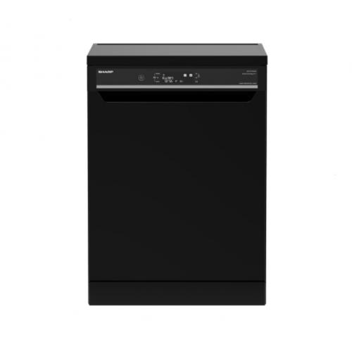 SHARP Dishwasher For 15 Person 60 cm With Digital Display and 10 Programs Black Color QW-V1015M-BK2