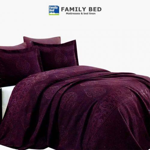 Family Bed Jacquard Comforter Set 3 Pieces Purple CJP_404