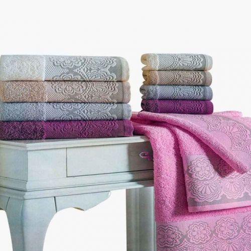 Family Bed Decorated Bath Towel 4 Pieces BTA_5001