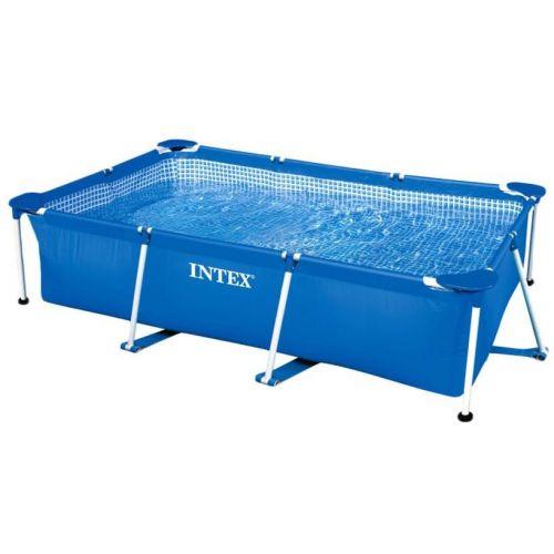 Intex Rectangular Frame Swimming Pool 260*160*65 cm Blue IX-28271
