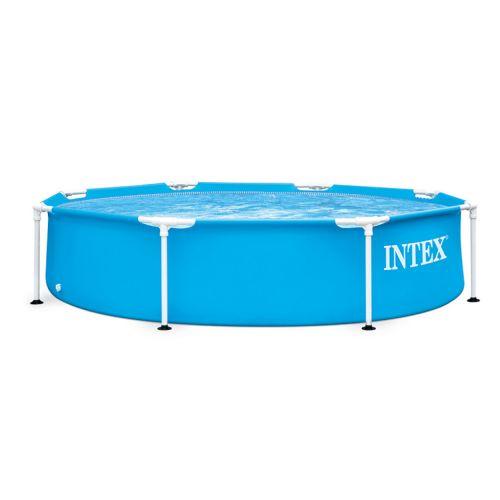Intex Swimming Pool Round Shape 244*51cm Metal Frame Blue Color IX-28205