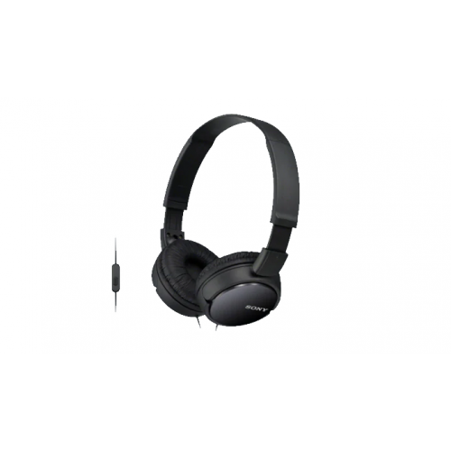 Sony On Ear Wired Headphones With Microphone Black Color MDR-ZX110AP/B