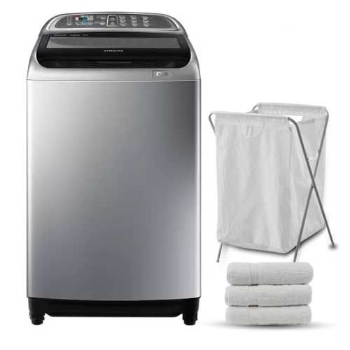 Samsung Washing Machine 18 KG Topload Silver: WA18J6750SP