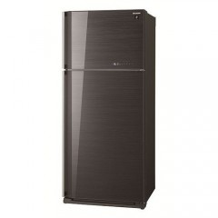Sharp Double Doors Refrigerator 25 fee BLAKE Glasst:SJ-GC75V-BK