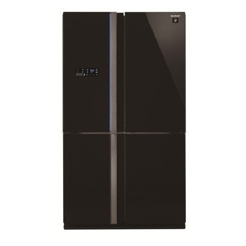 Sharp Refrigerator 30 Feet 4 Doors Digital Black Glass: SJ-FS85V-BK