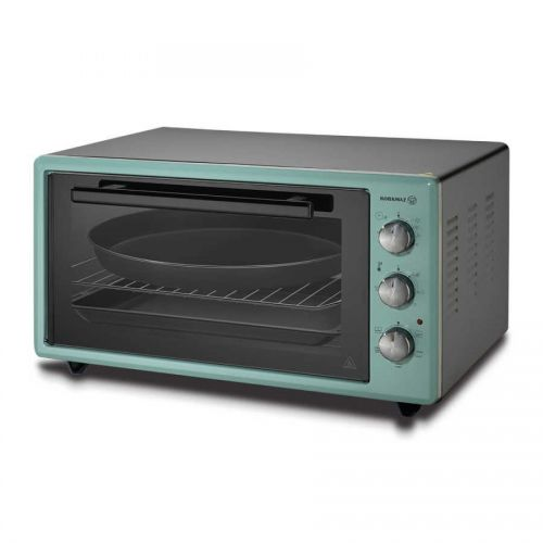 Korkmaz Electric Oven 45 Liter 2 Trays Fornal Inox Light Green A499-01