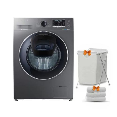 Samsung Washing Machine 8 KG 1400 Spin Silver WW80K5410UX1AS