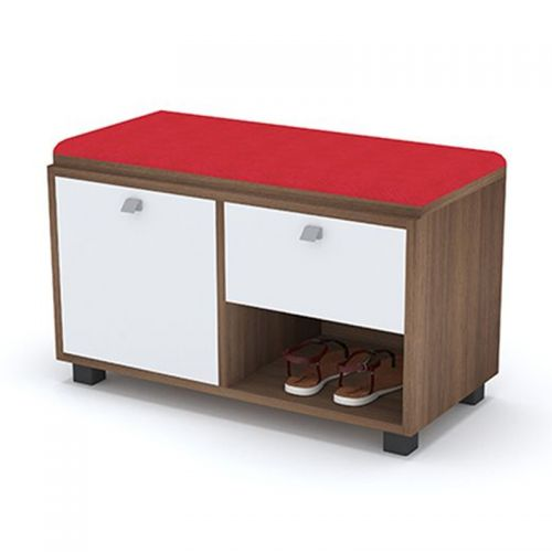 Artistico Shoe Storage 80*38*50 Cm With Seating Unit Red ASC-80R