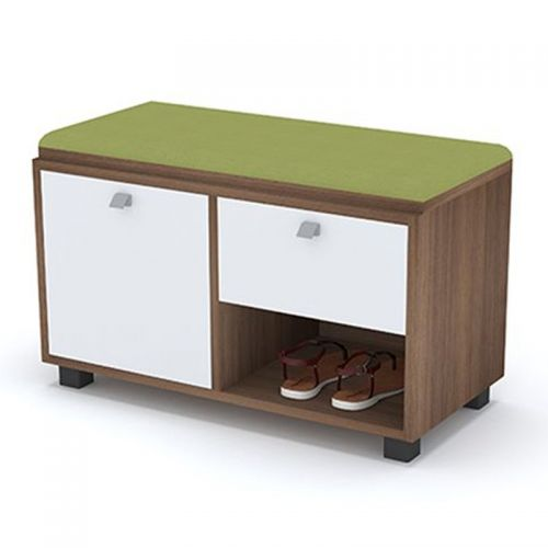 Artistico Shoe Storage 80*38*50 cm With Seating Unit Green ASC-80G