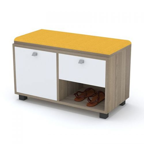 Artistico Shoe Storage 80*38*50 cm With Seating Unit Yellow ASC-80Y