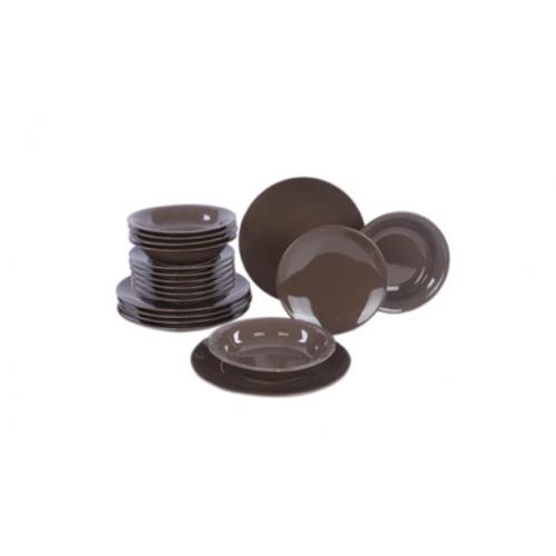 KUTAHYA Dinner Set 18 Pieces Ceramic Brown HR18YS1421-BR