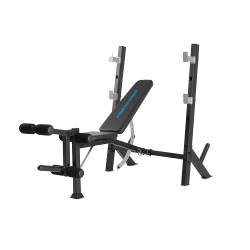 PRO-FORM Olympic Bench Rack With a Weight Capacity Of Up to 136 kg Black PFBE11520