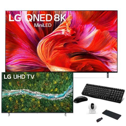 LG TV 75 Inch Quantum Dot NanoCell With Mini LED 8K Cinema HDR WebOS Smart AI ThinQ TV75QNED95VPA