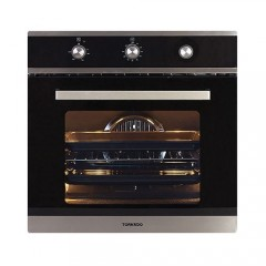 Tornado Gas Oven 60Liters With Gas Grill and FAN Stainless Steel: OV60GMFFS-2