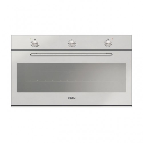 Glem Gas Built-in Gas Oven 90cm With Gas Grill and Fan Stainless Steel: GF9W31IXN