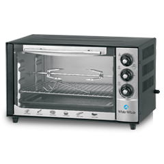 White Whale Oven 45 Liter With Grill Silver: WO-07RS