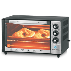 White Whale Oven 38 Liter With Grill Black Color: WO-05RCSS
