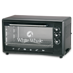 White Whale Electric Oven 55 Liter With Grill Black Color: WO-08 RB
