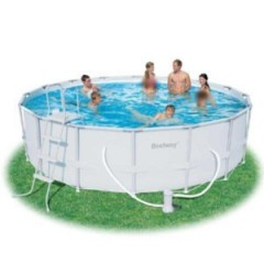 Bestway Swimming Pool With Filter Pump Circular Steel Pro Frame 549 x 132(cm): 56232