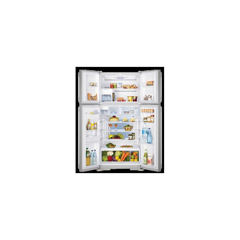White Whale Refrigerators 540 Liter 4 Doors Glass Black: WRF