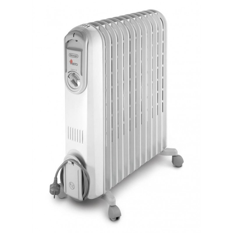 delonghi oil radiator heater 12 fins white vento v551225w prices features in egypt free home. Black Bedroom Furniture Sets. Home Design Ideas