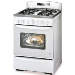 White Whale gas cooker 4 burner full safty silver: WCK-1560