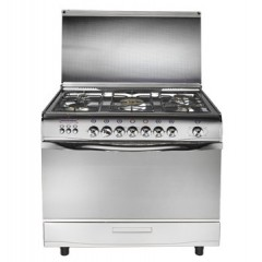 Universal Gas Cooker 5 Gas Burners Stainless Steel: Grand Safety2909